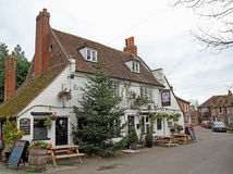 Medieval rose inn public house Royalty Free Stock Photography