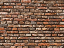 Medieval rough brick wall in Leiden Stock Images