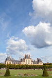 Medieval royal castle Fontainbleau near Paris Stock Photo
