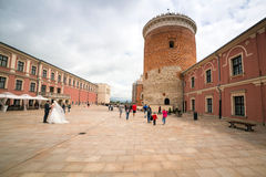 Medieval royal castle in Lublin Stock Photo