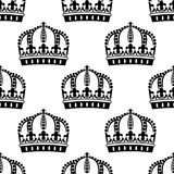 Medieval royal crowns seamless pattern Royalty Free Stock Photo