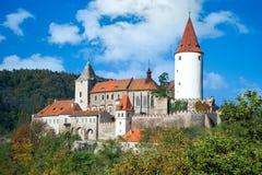 Medieval royal gothic castle Krivoklat, Central Bohemia, Czech r Royalty Free Stock Photo