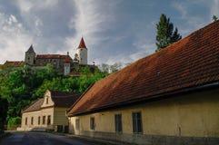 Medieval royal gothic castle Krivoklat, Central Bohemia, Czech R Stock Photography