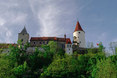 Medieval royal gothic castle Krivoklat, Central Bohemia, Czech R Royalty Free Stock Image