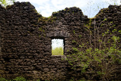 Medieval Ruin of a Castle Stock Image