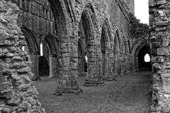 Medieval Ruined Arches and Walls Stock Images