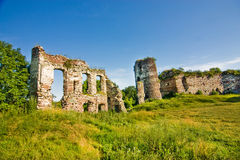 Medieval ruins of castle in Buchach Stock Photo