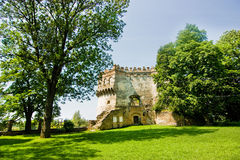 Medieval ruins of castle in Ostrog Royalty Free Stock Images