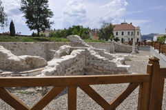 Medieval ruins of the Roman Fort from Alba Carolina in Romania Royalty Free Stock Photos