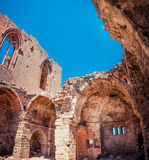 Medieval Ruins of the St. George of the Greeks Church. Famagusta Stock Image