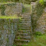 Medieval ruins - stairs stock photo