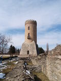 Medieval ruins and tower. Ruins at Dracula's Castle Royalty Free Stock Photo