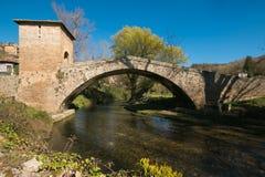 The medieval Saint Francis bridge of Subiaco Royalty Free Stock Image
