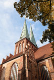 Medieval Saint Nicholas Church in Berlin Stock Image