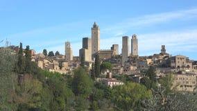 Medieval San Gimignano, sunny september morning. Tuscany, Italy. Medieval San Gimignano, sunny september morning. Tuscany. Italy stock video footage