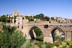 Medieval San Martin bridge - Toledo Royalty Free Stock Photo