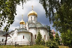 Medieval Savvino Storozhevsky monastery in Zvenigorod, Virgin nativity cathedral , Moscow region, Royalty Free Stock Photography