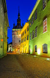 Medieval saxon street view in Sighisoara,Transylvania,Romania,Europe Royalty Free Stock Image