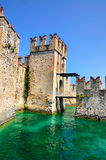 Entrance to Castello Scaligero, Italy Stock Photography