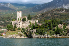 Medieval Scaligero Castle in Malcesine Stock Photo