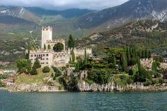 Medieval Scaligero Castle in Malcesine Stock Photo