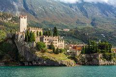 Medieval Scaligero Castle in Malcesine Royalty Free Stock Photos