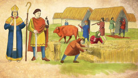 Medieval scene Royalty Free Stock Photos