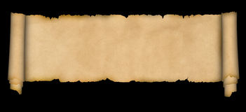 Medieval scroll of parchment. Royalty Free Stock Photography