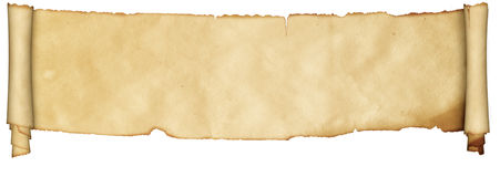 Medieval scroll of parchment. royalty free stock photo