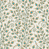 Medieval Seamless Pattern. Stock Photo