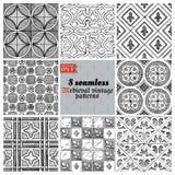 Medieval seamless pattern Stock Photo