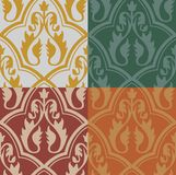 Medieval Seamless Pattern Stock Photos