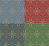 Medieval Seamless Pattern Stock Images