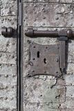 Medieval Security - Lock and Bolt Royalty Free Stock Photos