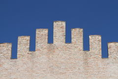 Medieval security wall Stock Image