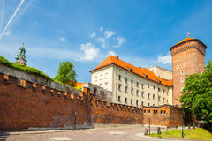 Medieval Senator`s tower at Royal Wawel Castle as a part of famous historical complex of Krakow, Poland Stock Photo
