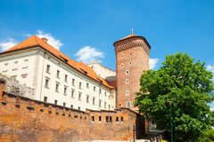 Medieval Senator`s tower at Royal Wawel Castle as a part of most important historical complex in Krakow, Poland Royalty Free Stock Photo