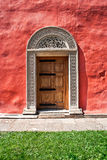 Monastery door Royalty Free Stock Photo