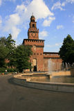 Medieval sforza castel, milan Royalty Free Stock Photo
