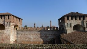 Medieval Sforzesco Castle Royalty Free Stock Image