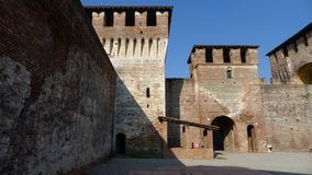 Medieval Sforzesco Castle. In Soncino Italy Royalty Free Stock Photo