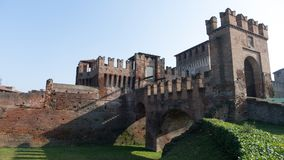 Medieval Sforzesco Castle. In Soncino Italy Royalty Free Stock Images