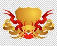 Medieval shield. Coats of arms. King and kingdom. Vector award emblem. royalty free illustration