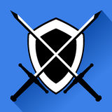 Medieval shield Stock Images