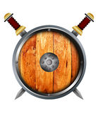 Medieval shield and sword. Stock Images