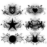 Medieval shields Royalty Free Stock Image
