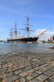 Medieval ship at Portsmouth harbour Stock Photography
