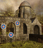 Medieval shooting place Royalty Free Stock Image
