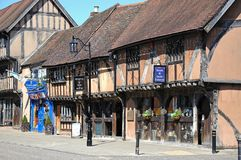 Medieval shopping street, Coventry. Royalty Free Stock Photography