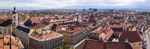Medieval Sibiu town in Romania Stock Images